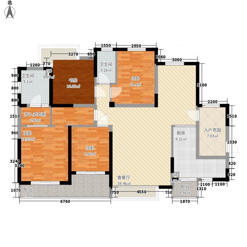 泰禾红树林181.00㎡泰禾红树林户型图D3户型4室2厅2卫1厨户型4室2厅2卫1厨