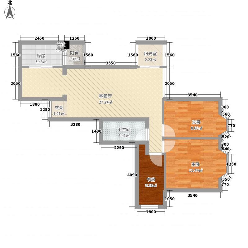 双龙绿色家园92.14㎡双龙绿色家园户型图3室1厅1卫1厨户型10室