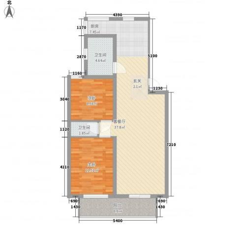 共康小区2室1厅2卫0厨99.00㎡户型图