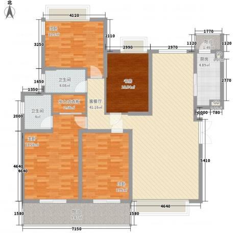 泰禾红树林4室1厅2卫1厨175.00㎡户型图