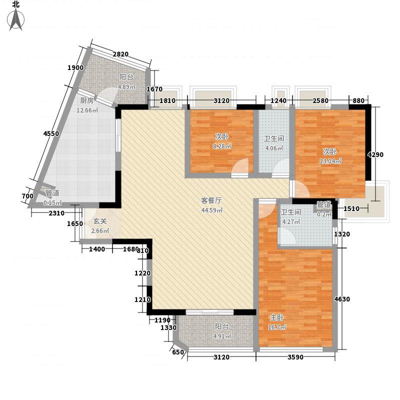 综艺曼哈顿时代83.00㎡综艺曼哈顿时代3室户型3室