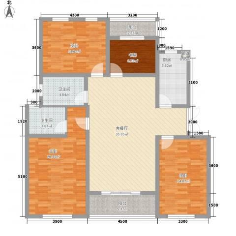 泉山森林海4室1厅2卫1厨138.00㎡户型图
