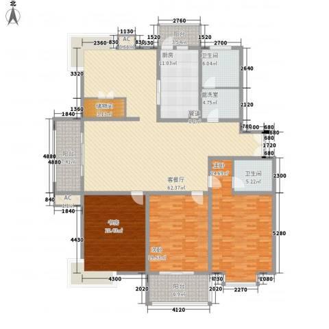 阳光四季园3室1厅2卫1厨251.00㎡户型图