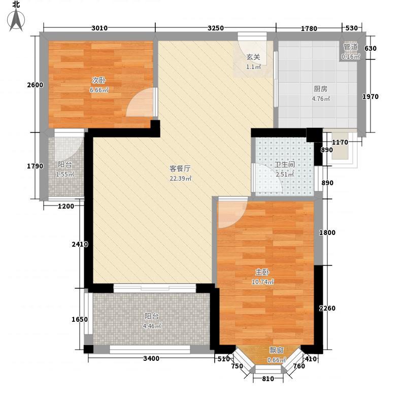 三盛托斯卡纳小区62.00㎡三盛托斯卡纳小区2室户型2室