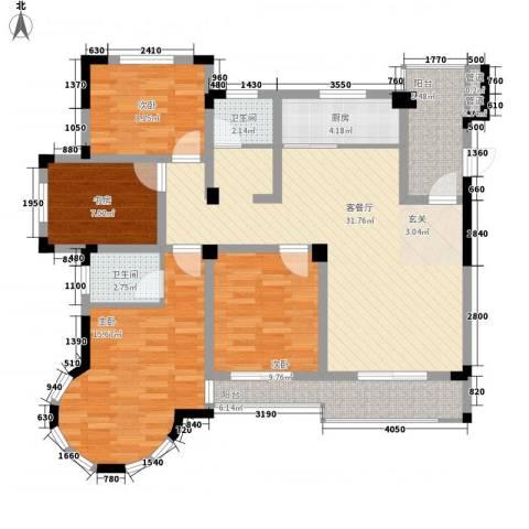 巴黎春天4室1厅2卫1厨142.00㎡户型图