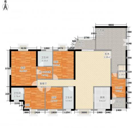 陶然豪园4室1厅3卫1厨169.00㎡户型图