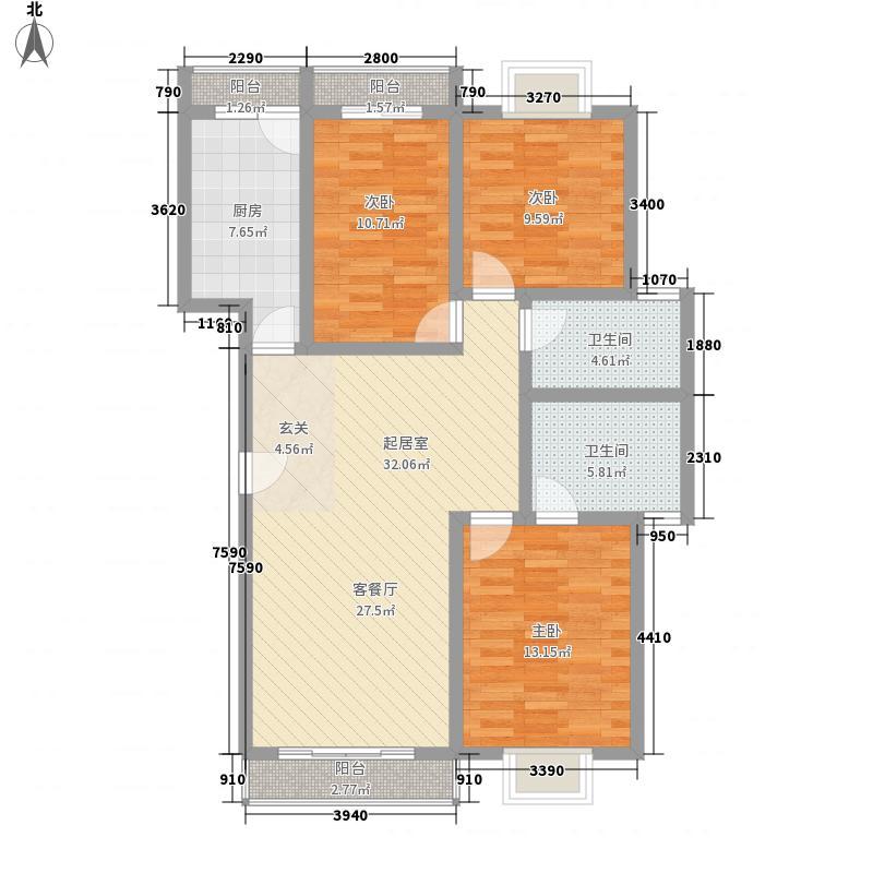 藏珑149.00㎡藏珑户型图F栋经典洋房一层3室2厅2卫户型3室2厅2卫