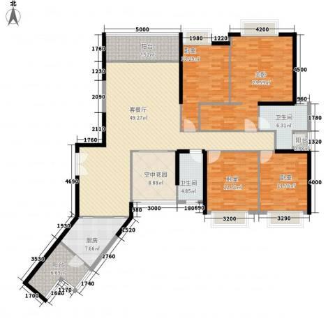 锦城南苑1室1厅2卫1厨171.07㎡户型图