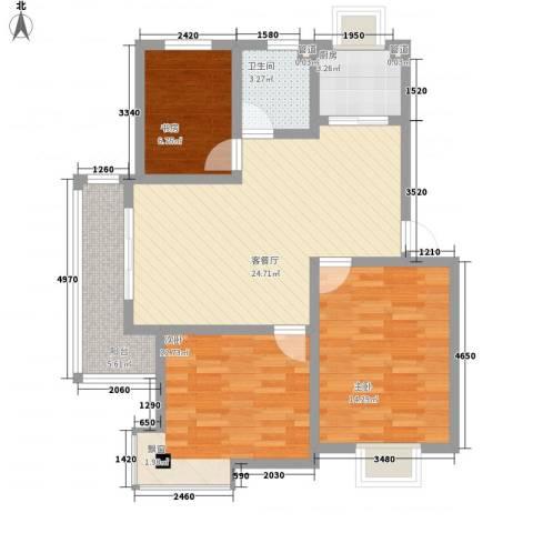 鑫达・风和日丽3室1厅1卫1厨103.00㎡户型图