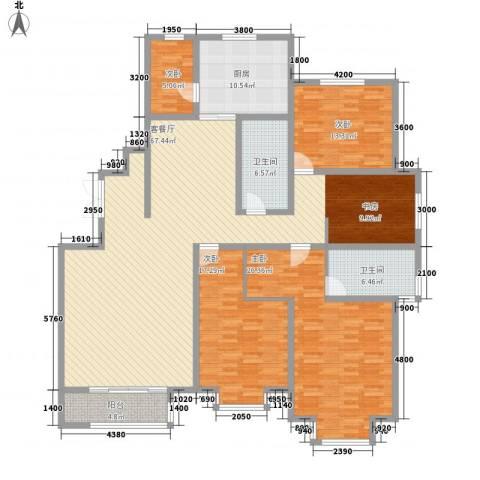 华茂名居4室1厅2卫1厨223.00㎡户型图