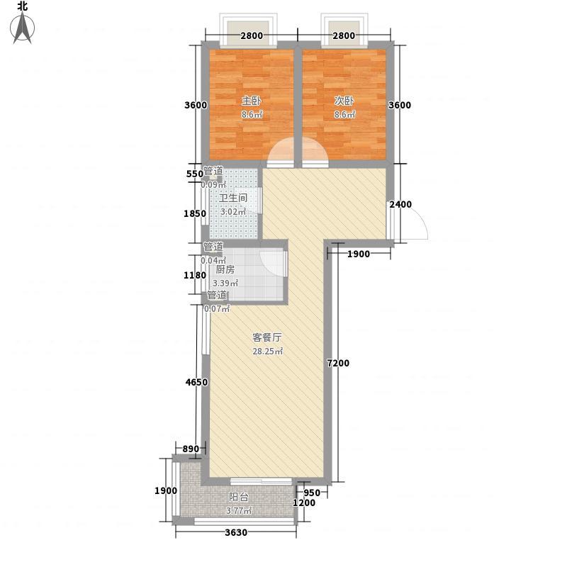 香城俪景二期85.56㎡1#、2#楼户型