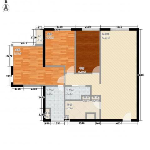 日月光中心伯爵居3室0厅2卫0厨144.00㎡户型图