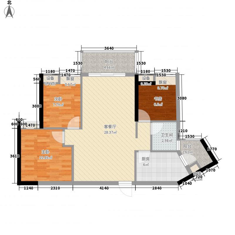 滨城珑湾4.00㎡3座05户型3室2厅1卫1厨