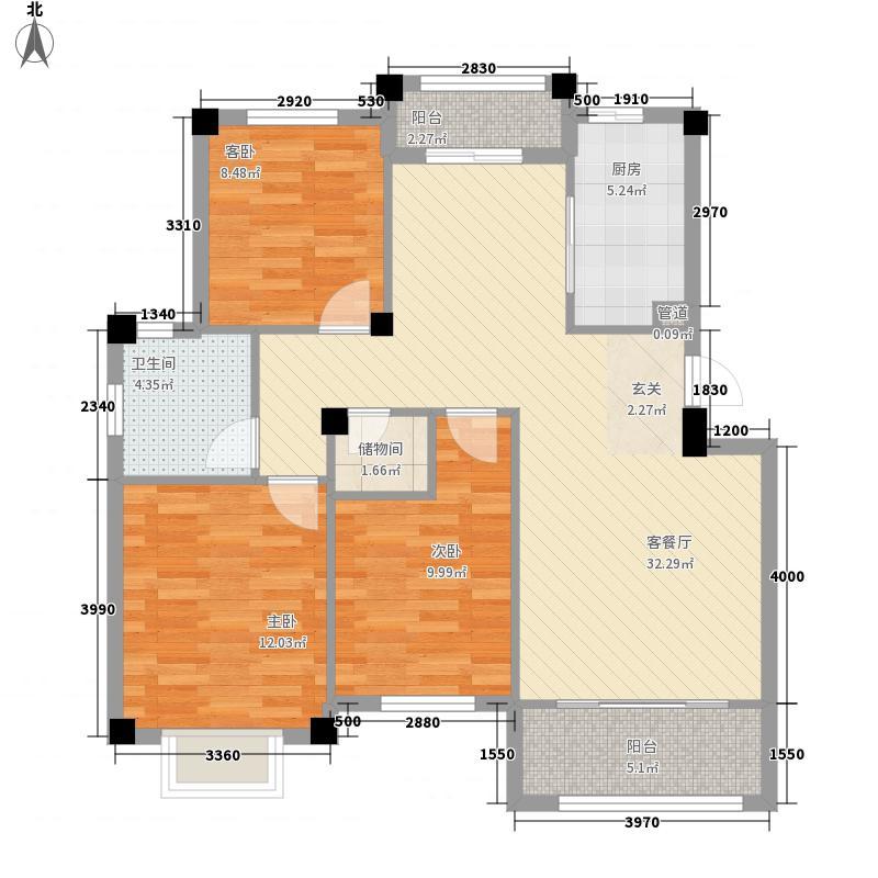 佳兆业壹号公馆115.00㎡67#68#72#H户型3室2厅1卫