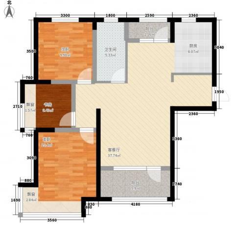 昊宇 山海湾3室1厅1卫0厨113.00㎡户型图