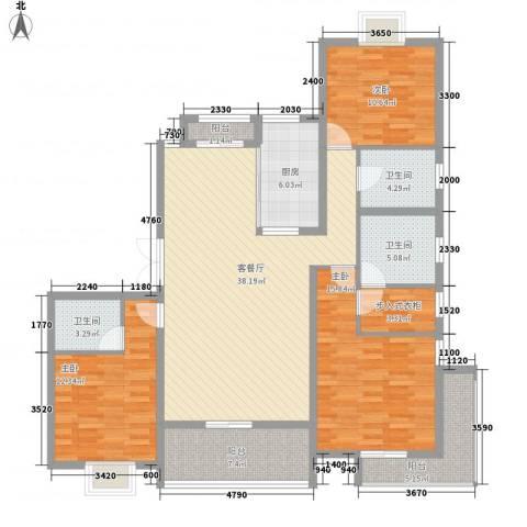 中大简界3室1厅3卫1厨162.00㎡户型图