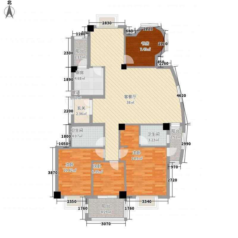 金辉莱茵城143.88㎡金辉莱茵城户型图4室2厅2卫1厨户型10室