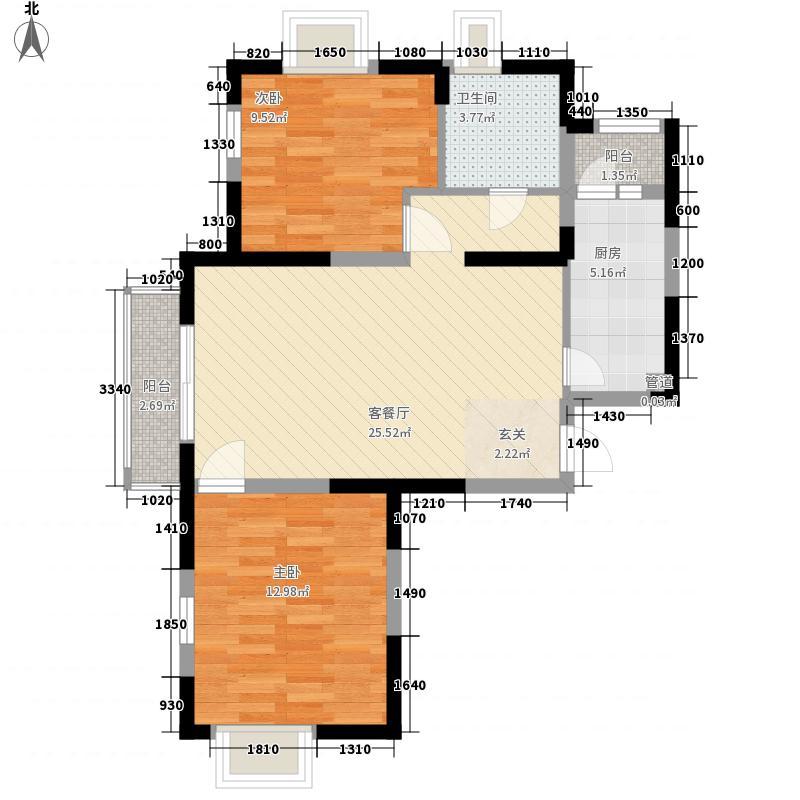 临汾名城二期87.34㎡临汾名城二期户型图B1户型2室2厅1卫1厨户型2室2厅1卫1厨