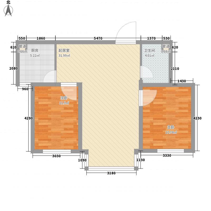 香檀191791.44㎡香檀1917户型图2室2厅1卫户型10室
