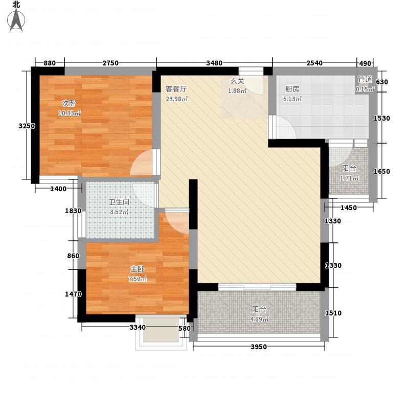 富地朗城一居室9户型1室1厅1卫1厨