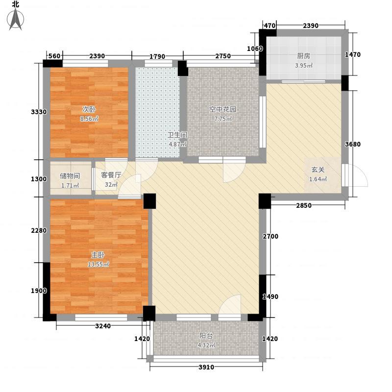 畔山御景97.86㎡畔山御景户型图5号楼A户型2室2厅1卫1厨户型2室2厅1卫1厨