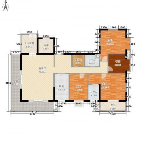 南湖中祥大厦4室1厅2卫1厨185.00㎡户型图