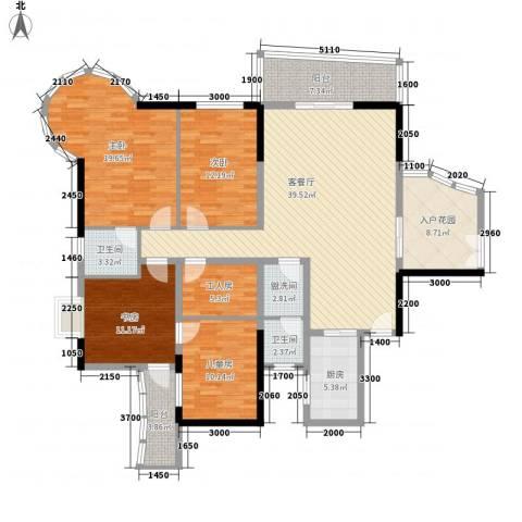 南湖中祥大厦4室1厅2卫1厨166.00㎡户型图