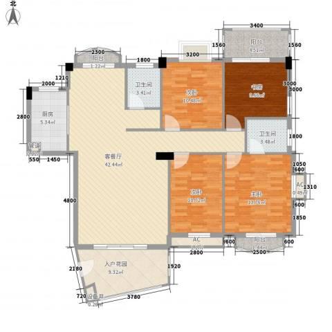 未来海岸蓝月湾4室1厅2卫1厨147.00㎡户型图