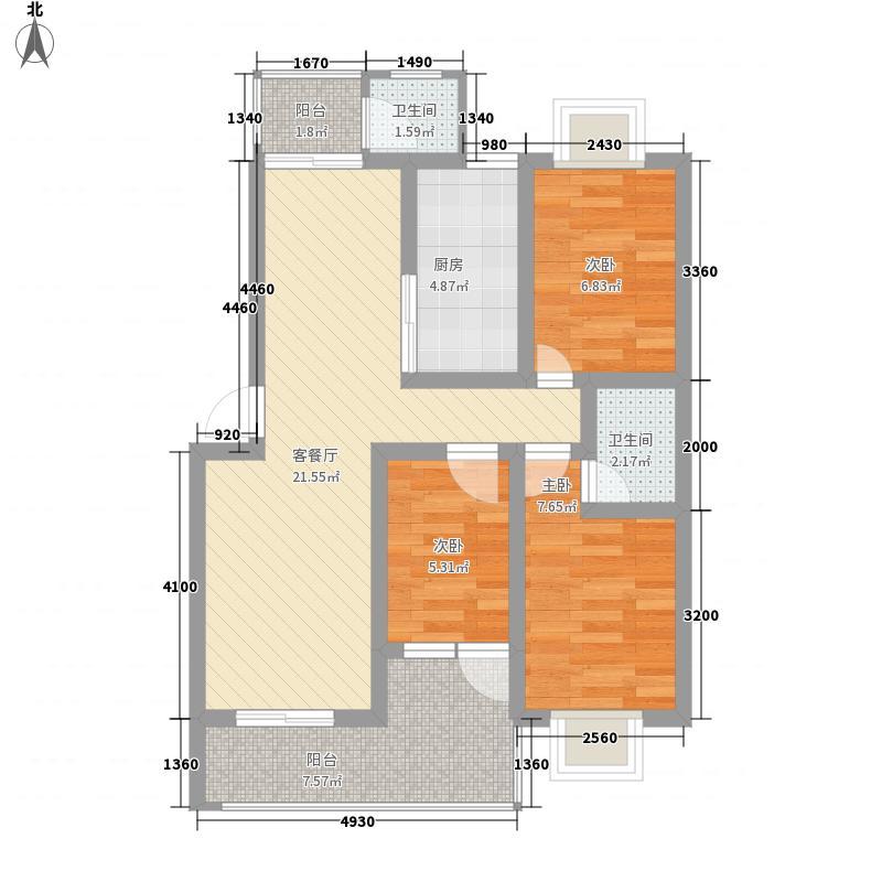 摩尔城89.00㎡摩尔城3室户型3室