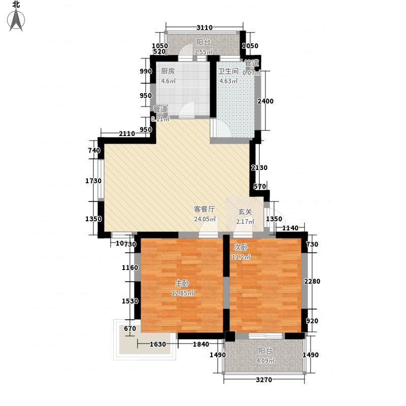 临汾名城二期92.14㎡临汾名城二期户型图B1户型2室2厅1卫1厨户型2室2厅1卫1厨