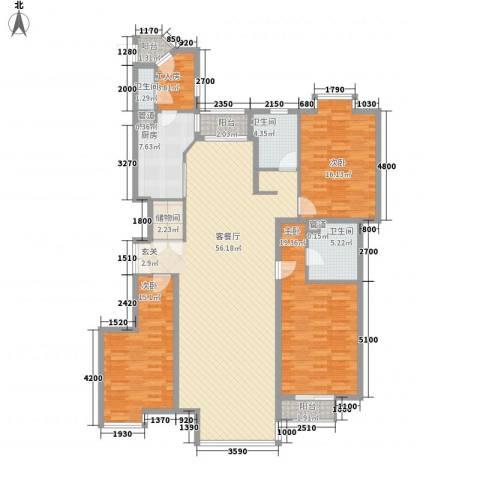 东润枫景3室1厅3卫1厨195.00㎡户型图