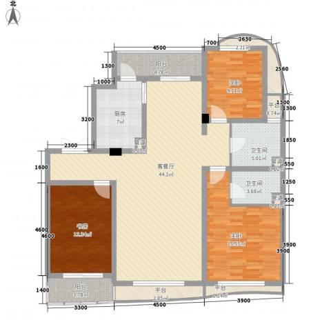 宏城金棕榈3室1厅2卫1厨149.00㎡户型图