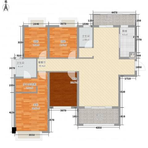 宁宝世家4室1厅2卫1厨144.00㎡户型图
