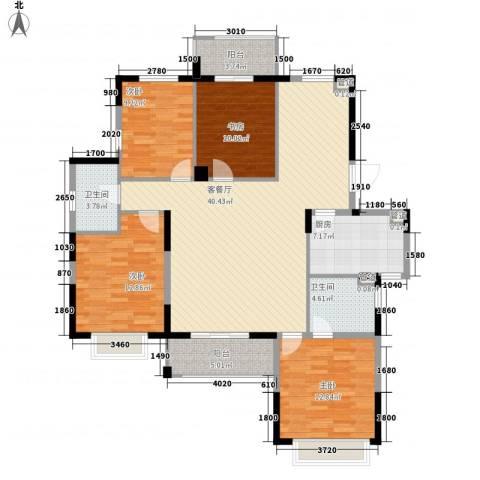 银亿海尚广场4室1厅2卫1厨123.00㎡户型图