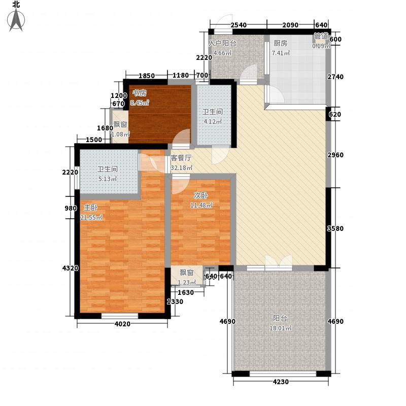 南湖国际社区127.00㎡A3奇数层(已售完)户型3室2厅2卫1厨