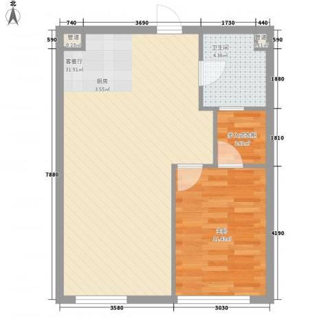 海富经典1室1厅1卫0厨70.00㎡户型图