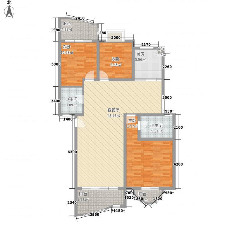 楠竹花园129.58㎡楠竹花园户型图3室2厅2卫1厨户型10室