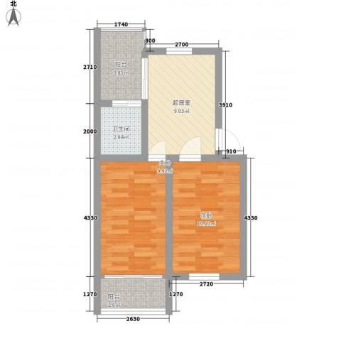 秀水小区2室0厅1卫0厨57.00㎡户型图