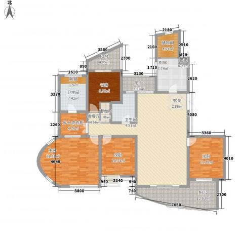 凯迪公元4室1厅2卫1厨213.00㎡户型图