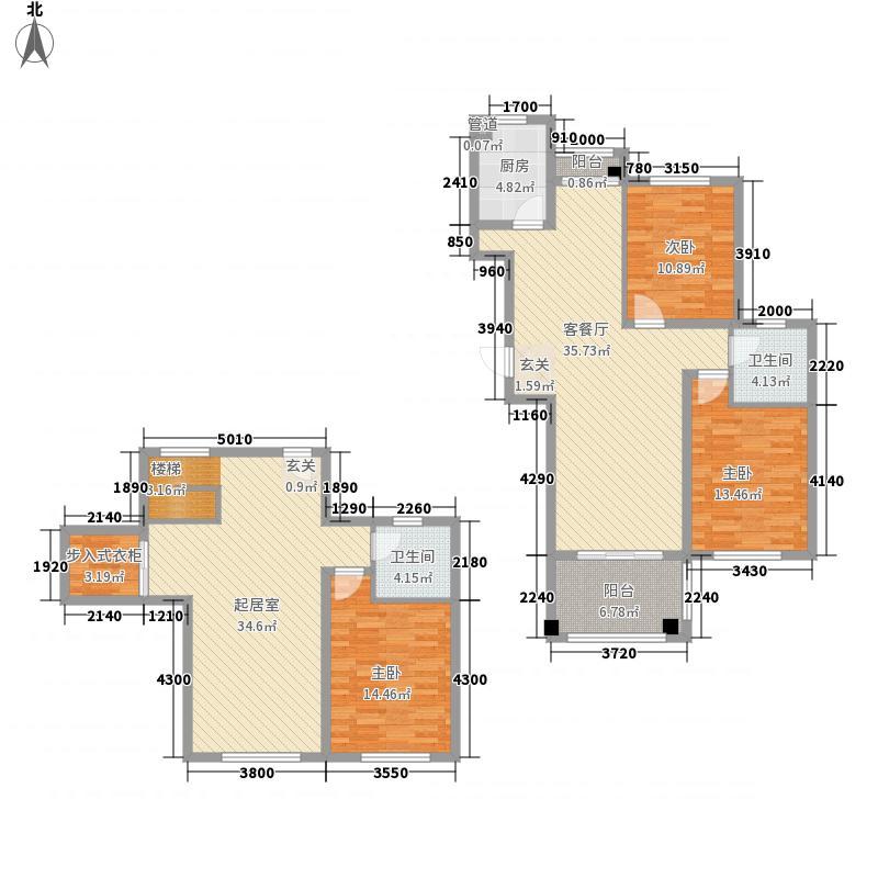 东城风景户型图M户型 2室2厅1卫1厨