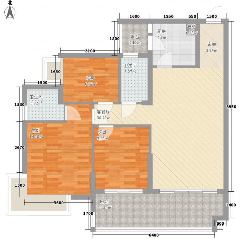 兰亭叙15.28㎡8栋0户型3室2厅2卫1厨