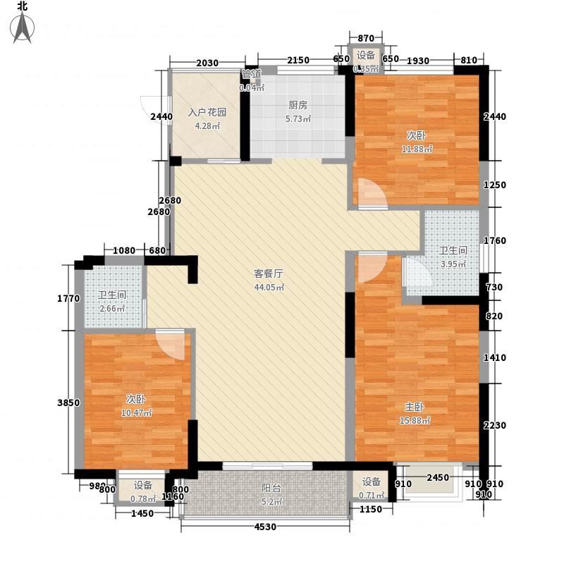 元一名城97.00㎡元一名城3室户型3室
