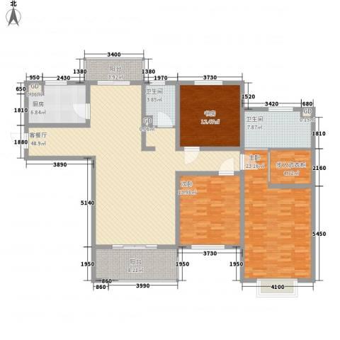 东湖京华3室1厅2卫1厨192.00㎡户型图