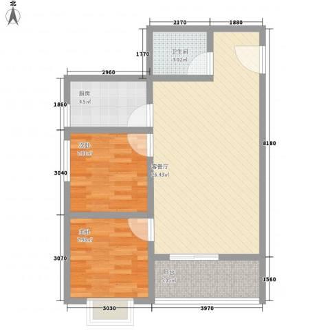 广星源2室1厅1卫1厨79.00㎡户型图