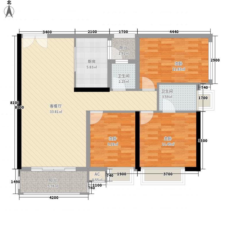 百仕达乐湖115.00㎡百仕达乐湖户型图1-H户型4室2厅2卫户型4室2厅2卫