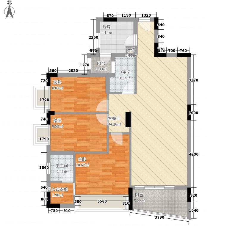 中南海晖园114.00㎡中南海晖园户型图12座02室3室2厅2卫户型3室2厅2卫