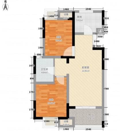 金浦御龙湾2室0厅1卫1厨86.00㎡户型图
