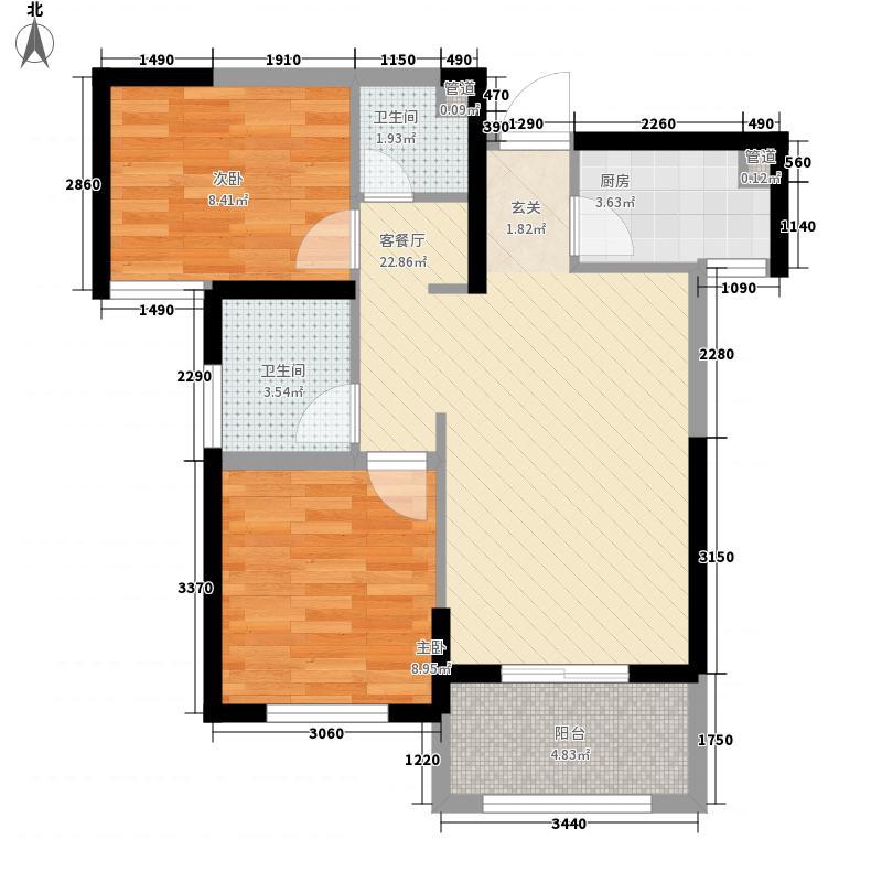 杉林悦榕公馆户型图3#G户型 3室2厅1卫1厨