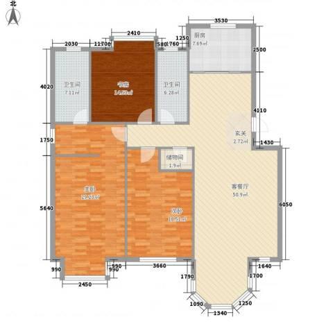 新星壹品3室1厅2卫1厨151.00㎡户型图