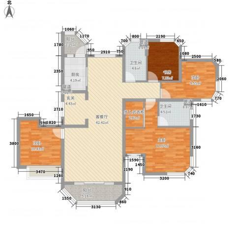 华夏奥韵4室1厅2卫1厨110.86㎡户型图